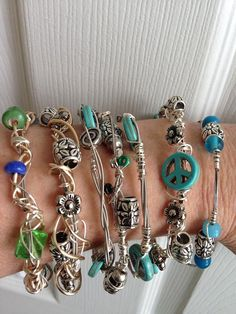 Hand made recycled materials including guitar strings, beads, jewelry wire, glass, charms and soft metals. on Etsy, $39.00
