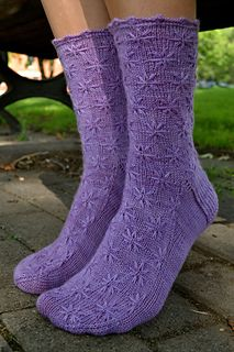 Lilac Socks by M. Sullivan size medium available for purchase Ravelry