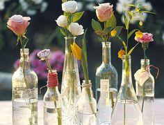 Saving my bottles (Wrapping yard around the bottle)