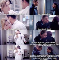 Meredith and Alex the character development from when they met it it being just them now