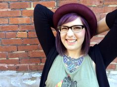 Gawly Gee #OOTD #girlswithglasses #purplehair #h&m #tattoos
