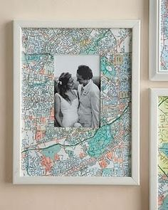 Map frames - this would be cool with old maps of cities you've visited - especially where the picture was taken.