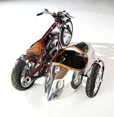 steampunk(ish) big twin hardtail & sidecar