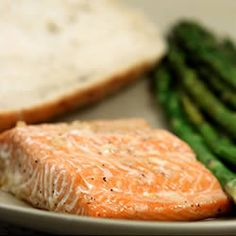 Salmon is baked with a delicate maple glaze. had salmon the other night for dinner Fish Dishes, Seafood Dishes, Fish And Seafood, Seafood Recipes, Main Dishes, Delicious Salmon Recipes, Easy Salmon Recipes, Healthy Recipes, Yummy Recipes