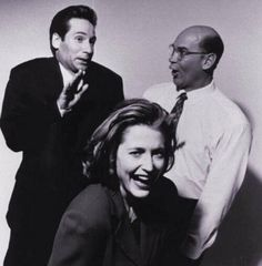 David Duchovny, Gillian Anderson and Mitch Pileggi. i love you i love you i love you