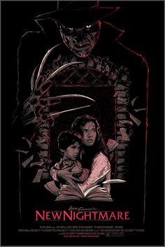 Classic Horror Movie Poster Art Series by Matt Ryan Tobin — GeekTyrant Horror Movie Posters, Horror Icons, Movie Poster Art, Horror Art, Fan Poster, New Nightmare, Nightmare On Elm Street, Freddy's Nightmares, Kino Film