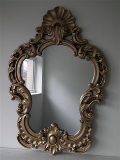 Large Beautiful Gold French Style Rococo Wall Mirror 3ft4 x 2ft3 101cm x 68cm