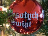 Polish Christmas Ornament - Wesotych Swiat means Merry Christmas in Polish