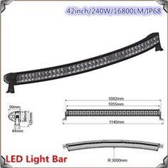 LED LIGHT 42 INCH 240 WATTS CURVED