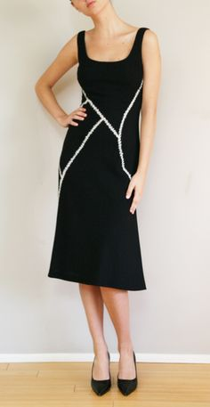 Alexander Mcqueen dress with built-in ribbing and bra construction
