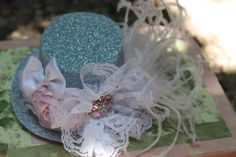 Mini top hat fascinator  tea party  vintage by fancygirlbowtique, $24.00