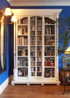 IKEA Hackers: Fake old library used 2 Billy 2 Benno 2 Lack shelves furniture feet cornices, mouldings . Home Office Furniture, Old Libraries, Home, Shelf Furniture, Furniture Hacks, Ikea Billy, Ikea, Ikea Furniture, Ikea Kitchen Island