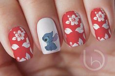 Items similar to Stitch Nail Decal Waterslide Nail Design Nails Press On Nail Decal Nail Design Nail ArtDisney decal disney characters Disney nails on Etsy designscute Nail Art Designs, Disney Nail Designs, Cute Acrylic Nail Designs, Nails Design, Cartoon Nail Designs, Cute Nails, Pretty Nails, My Nails, Cute Nail Art