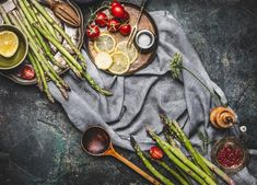 Asparagus cooking ingredients by VICUSCHKA on @creativemarket