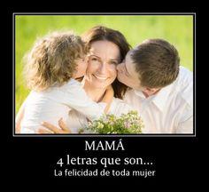 Fotos Mujeres Hermosas: MAMÁ 4 letras que son - http://www.fotosbonitaseincreibles.com/fotos-mujeres-hermosas-mama-4-letras-que-son/