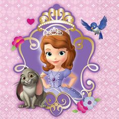 Sofia the First Drink Napkins – Fast Shipping – 16 per package