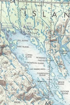 Map of Frobisher Bay, Baffin Island