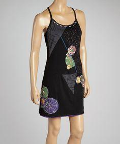 Look what I found on #zulily! Black Patchwork Sleeveless Dress #zulilyfinds