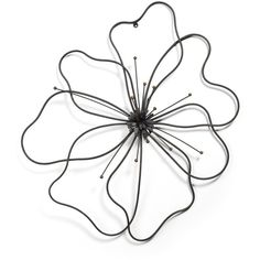 Poppy Flower Metal Art ($69) ❤ liked on Polyvore featuring home, home decor, wall art, fillers, flowers, backgrounds, decor, art, effects and quotes