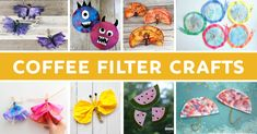 Coffee filter art projects