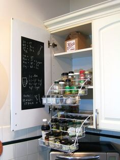 How to Store Spices in an Awkward Cabinet? Try a Pull Down Spice Rack — Reader Project