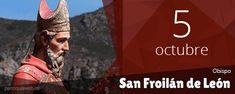 En León, ciudad de Hispania, conmemoración de san Froilán, obispo, que primero fue eremita y después, ordenado obispo, evangelizó las regiones liberadas del yugo de los musulmanes, propagando la vida monástica y distinguiéndose por su beneficencia hacia los pobres († 905... Saints, City, October