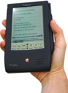 (1993) Apple Newton - Manufactured by Sharp, the Apple Newton MessagePad is not a Personal Computer (PC), it's one of the first-ever Personal Digital Assistants (PDA).