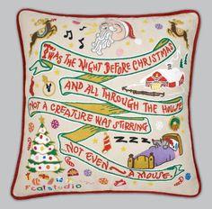 CatStudio Twas the Night Before Christmas pillow