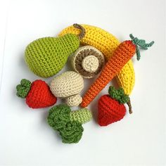 8 Crochet Fruit & Vegetables / Crochet Vegetables / Seasons / Eco-friendly Decoration / Decor / Centrepiece - 8 Pieces via Etsy