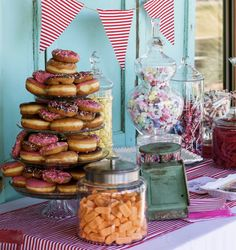 Add a doughnut cake to your sweets table! Adorable!
