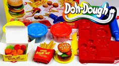 Play doh how to make cheese chicken burger sets Play dough