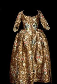 Robe à l'anglaise (?), silk, 1760-80