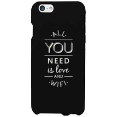 All You Need Is Love And WiFi Funny Black Phone Case for iphone,... ($14) ❤ liked on Polyvore featuring accessories, tech accessories, phone case, phone, phonecases, case, galaxy smartphone and lg smartphones