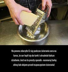 Praktyczny trik, który pomoże Ci zetrzeć ser na tarce! Life Hacks, Tasty, Food, Essen, Meals, Yemek, Lifehacks, Eten