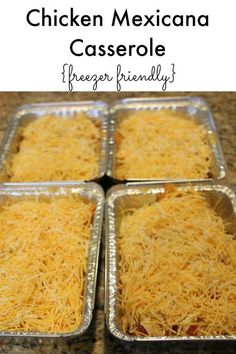 Chicken Mexicana Casserole - Freezer Friendly Meal making extra for a dinner when cooking is just not on the clock. Freezer Friendly Meals, Make Ahead Freezer Meals, Freezer Cooking, Cooking Recipes, Bulk Cooking, Crockpot Meals, Freezer Meal Recipes, Pioneer Woman Freezer Meals, Cooking Tips