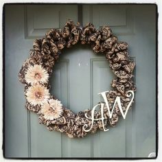 Burlap wreaths from country chic design www.facebook.com/country.chic.design