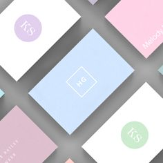 A selection of Light business card templates available to customise and order on our site.