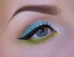 Mint and chartreuse eye