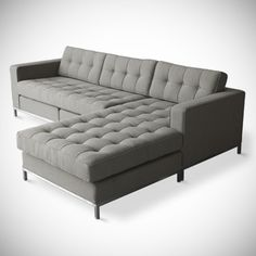 The design is a tad modern for my taste, but I can't imagine buying a sofa that's any other shape.