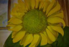 slnečnica akvarel