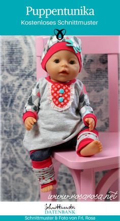 Baby Clothing Freebook doll love balloon tunic Feli with hood size 36 and (Diy Baby Doll) Baby Clothing Source : Freebook Puppenliebe Ballontunika Feli mit Kapuze Gr 36 und 43 ? Knitting For Charity, Knitting For Kids, Sewing For Kids, Baby Sewing, Teddy Bear Knitting Pattern, Baby Knitting Patterns, Crochet Patterns, Baby Born Kleidung, Baby Dolls For Kids