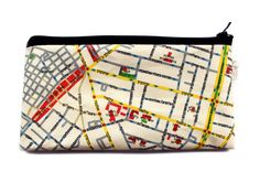 I LOVE TLV map wallet / Pencil case / black zippered by efratul, $12.00
