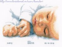 Newborn - cross stitch kit by Vervaco - A sweet birth sampler of a sleeping baby personalised with name, date of birth and weight at birth. Cross Stitch Family, Cross Stitch Art, Counted Cross Stitch Kits, Cross Stitching, Cross Stitch Embroidery, Baby Cross Stitch Patterns, Cross Stitch Designs, Lizzie Kate, Marjolein Bastin