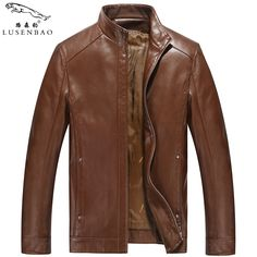 Men's Leather Jackets Autumn And Winter Faux Leather Motorcycle Jackets Leather Thick Coats Outerwear  Mens Echte Leather Blazer