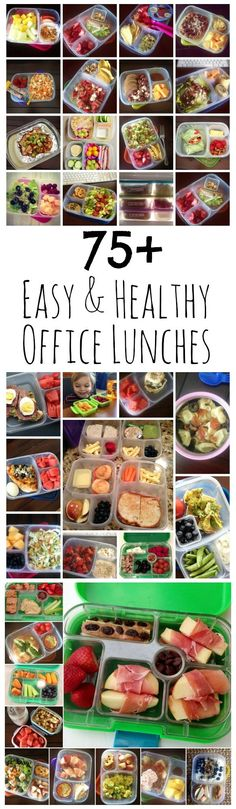 75+ Easy & Healthy Office Lunch Ideas from LauraFuentes.com #Healthylunchboxes