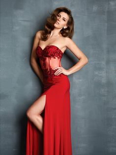 A-line Sweetheart Sleeveless Elastic Woven Satin Evening Gowns With Beaded #FJ268