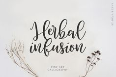 Herbal Infusion is a friendly, charming and cool handwritten font with a unique style. It's the ideal font for adding. Script Logo, Handwritten Fonts, Typography Fonts, New Fonts, Calligraphy Fonts, Hand Lettering, Uppercase And Lowercase Letters, Vintage Fonts, Beautiful Fonts