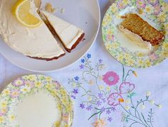 Time for afternoon tea. Lemon cake recipe from the Women's Institute 'Best Kept Secrets' range of cookbooks.