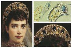 Empress Maria Feodorovna Sapphire Kokoshnik Tiara - Google Search