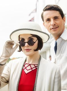 Downton Abbey Season Six - Lady Mary and Henry Talbot, Season Six - looking tres chic at the races